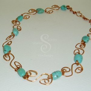 Turquoise-copper-links-necklace