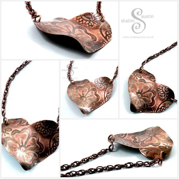 Embossed Copper Heart