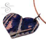 Enamelling Copper Part 2 - Enamelled Copper Heart Pendant on Torc Necklace
