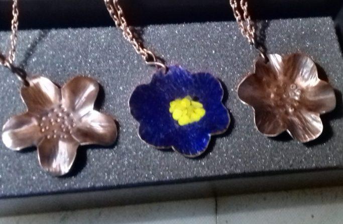 Copper Flower Jewellery