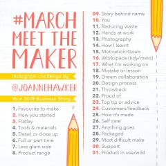 #MarchMeetTheMaker 2019