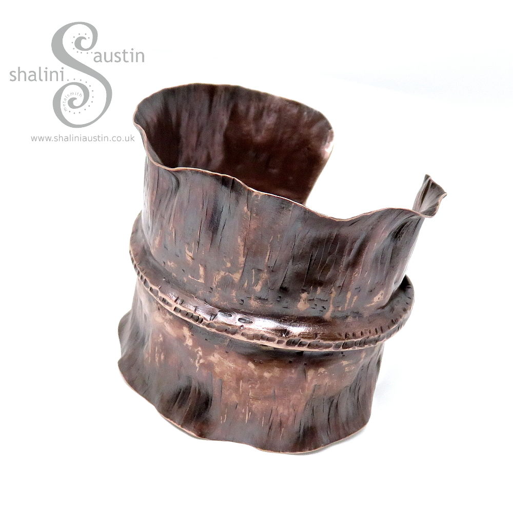 Upcycled Fold-Formed Copper Cuff 20,  £35.00