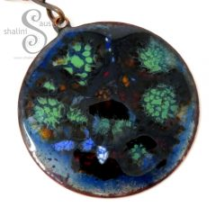 Enamelled Copper Circle Pendant OCTOPUS'S GARDEN