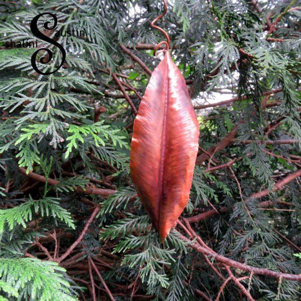 Decorative Outdoor Copper Leaf Sculpture  Read More: https://shaliniaustin.com/shop/decorative-copper-leaf-sculpture-01/