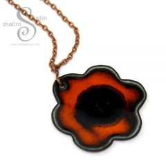 394-4-enamelled-copper-flower-pendant-orange-black-600x600-1
