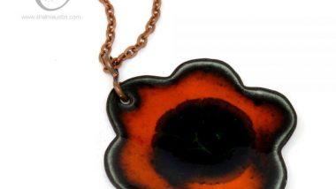 394-4-enamelled-copper-flower-pendant-orange-black-600x600-1