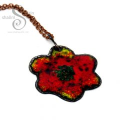 394-6-enamelled-copper-flower-pendant-red-yellow