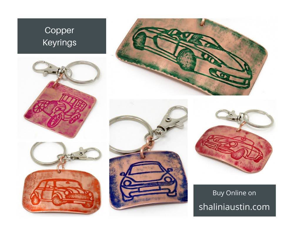 Embossed Copper Keyrings